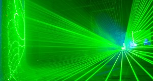 BIGBANG studio green laser lights
